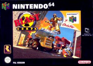 Blast Corps carátula de Nintendo 64