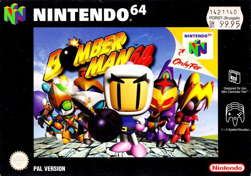 bomberman-64 carátula de Nintendo 64