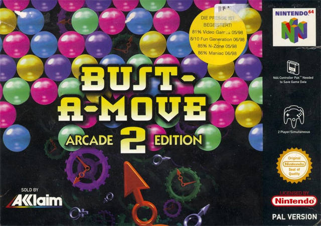 Bust-A-Move 2 Arcade Edition carátula de Nintendo 64