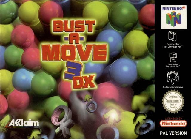 Bust-A-Move 3 DX carátula de Nintendo 64