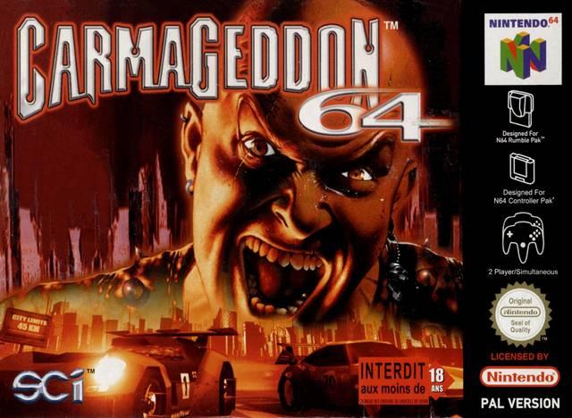 Carmageddon 64 carátula de Nintendo 64
