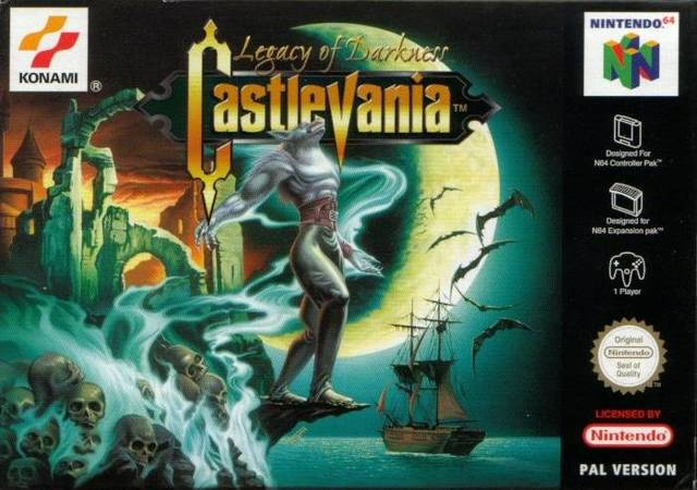 Castlevania - Legacy of Darkness carátula de Nintendo 64