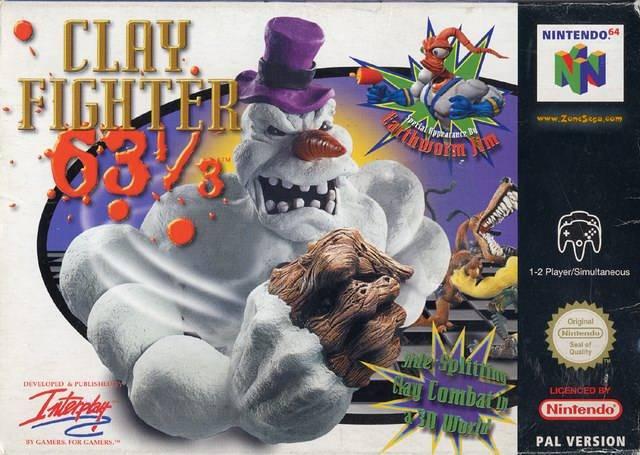 ClayFighter carátula de Nintendo 64