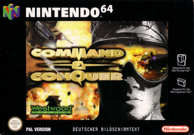 Command Conquer carátula de Nintendo 64
