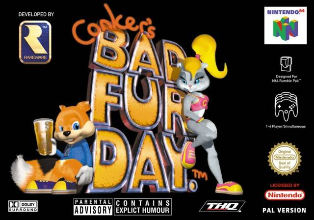 Conker's Bad Fur Day carátula de Nintendo 64