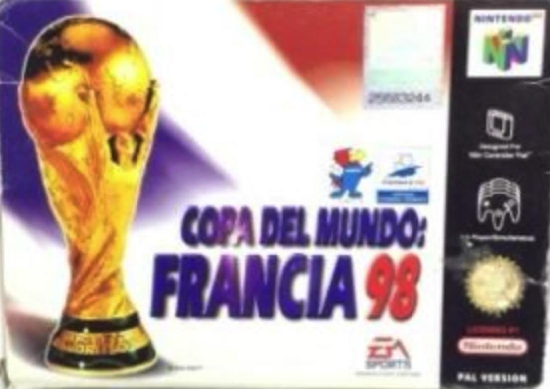Copa del mundo carátula de Nintendo 64
