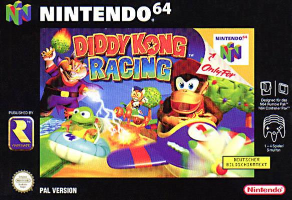 Diddy Kong Racing carátula de Nintendo 64