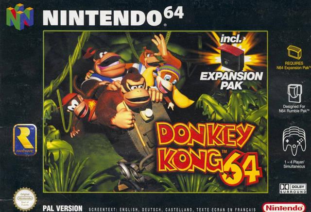 Donkey Kong 64 carátula de Nintendo 64