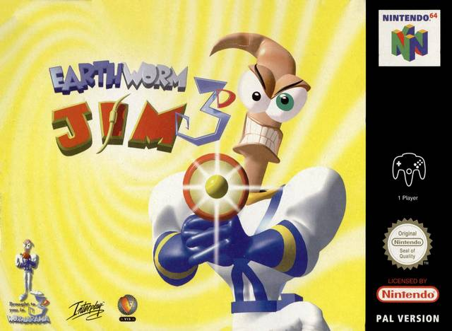 Earthworm Jim 3D carátula de Nintendo 64