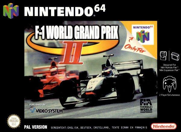 F-1 World Grand Prix II carátula de Nintendo 64