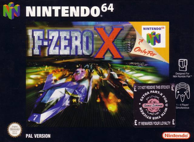 F-Zero X carátula de Nintendo 64