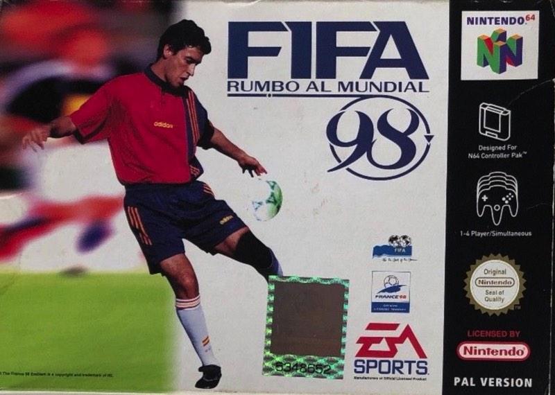 Fifa 98 carátula de Nintendo 64