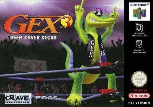 Gex 3 - Deep Cover Gecko carátula de Nintendo 64