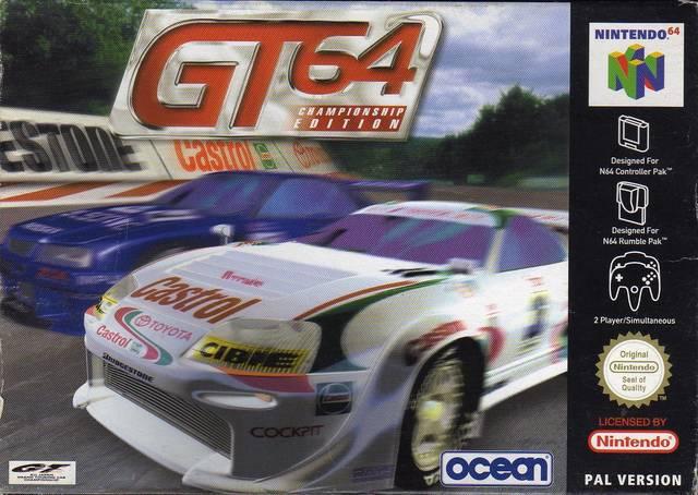 GT 64 carátula de Nintendo 64