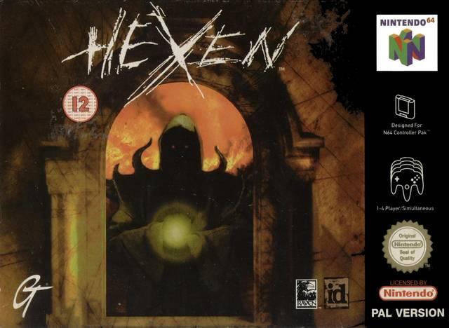 Hexen carátula de Nintendo 64