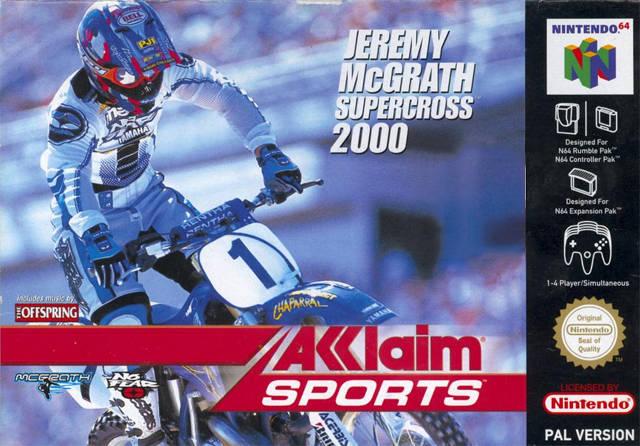 Jeremy McGrath Supercross 2000 portada de Nintendo 64