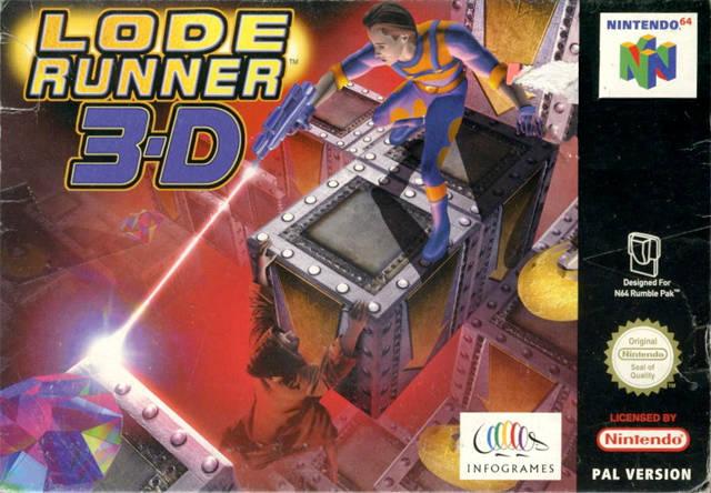 Lode Runner 3-D portada de Nintendo 64
