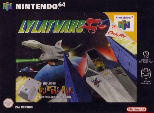 Lylat Wars portada de Nintendo 64