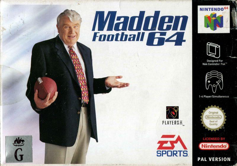 madden-football-64 portada de Nintendo 64