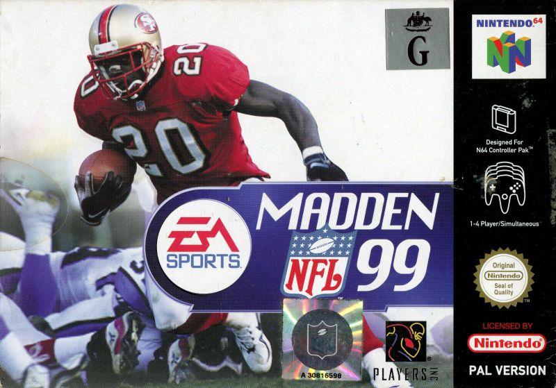 madden-nfl-99 portada de Nintendo 64