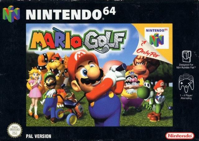 Mario Golf portada de Nintendo 64