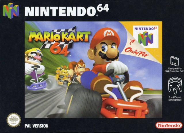 Mario Kart 64 portada de Nintendo 64