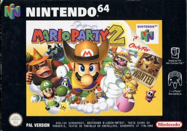 Mario Party 2 portada de Nintendo 64