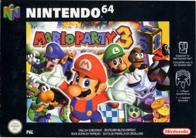 Mario Party 3 portada de Nintendo 64