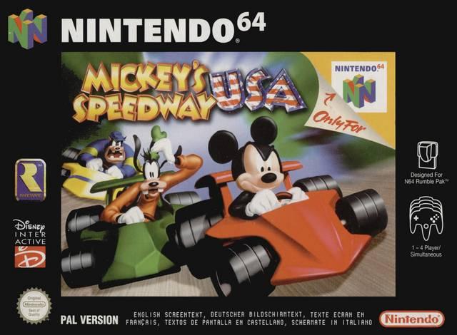 Mickey Speedway USA portada de Nintendo 64