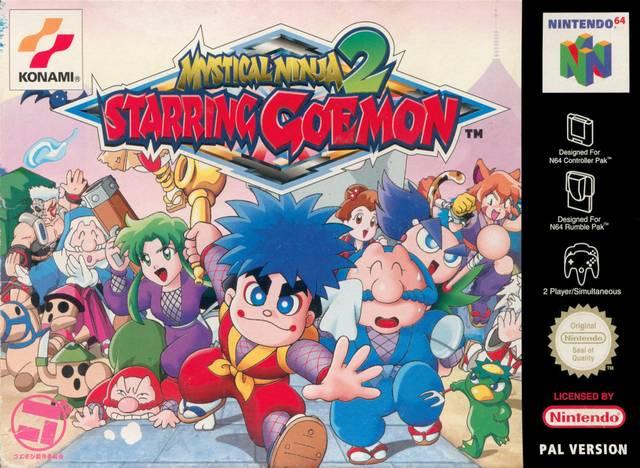 Mystical Ninja Starring Goemon 2 portada de Nintendo 64