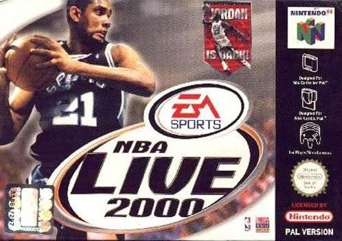 NBA Live 2000 portada de Nintendo 64