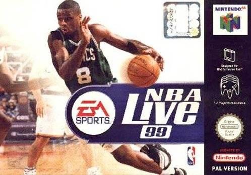 NBA Live 99 portada de Nintendo 64