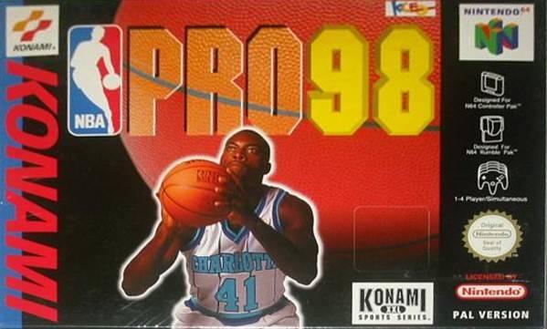 NBA Pro 98 portada de Nintendo 64