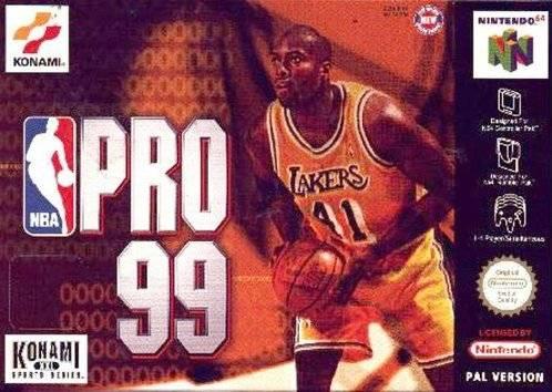 NBA Pro 99 portada de Nintendo 64
