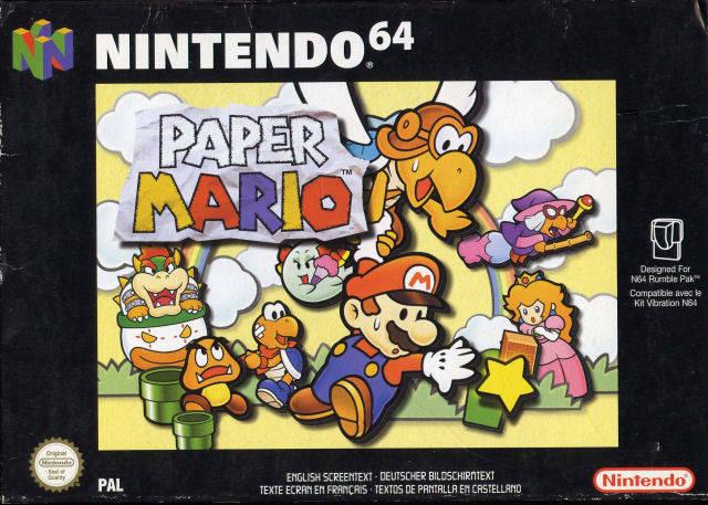 Paper Mario portada de Nintendo 64