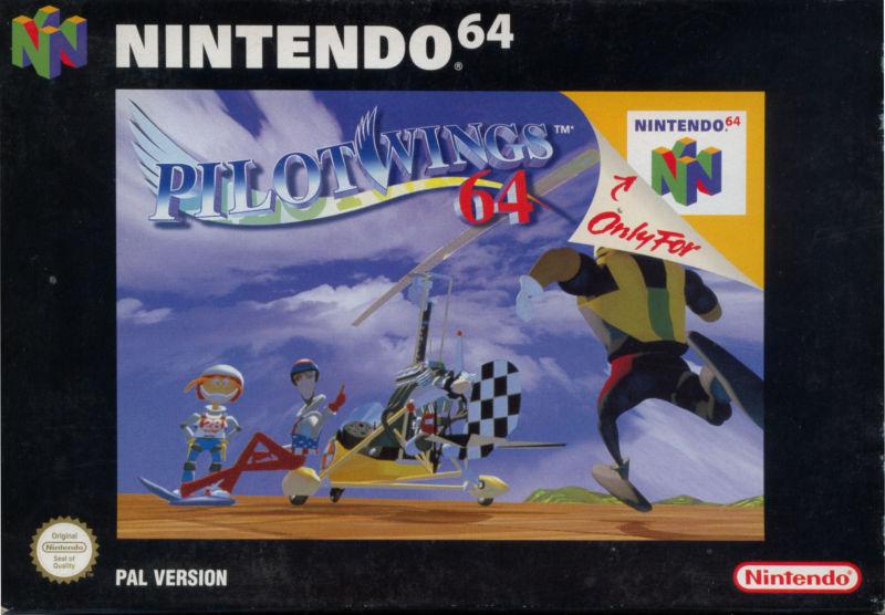 Pilotwings-64 portada de Nintendo 64