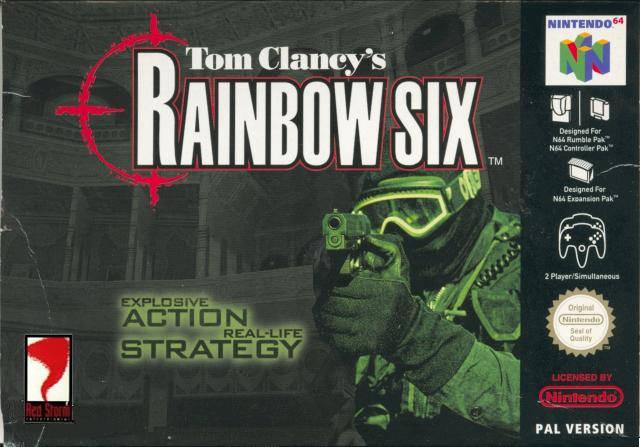 Tom Clancy's Rainbow Six portada de Nintendo 64