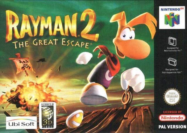 Rayman 2 - The Great Escape portada de Nintendo 64
