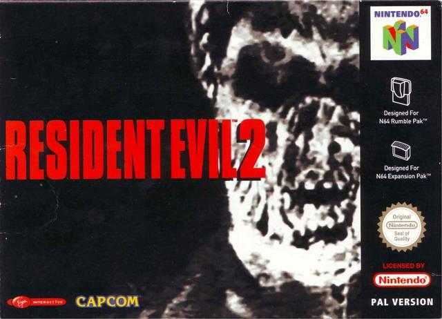 Resident Evil 2 portada de Nintendo 64