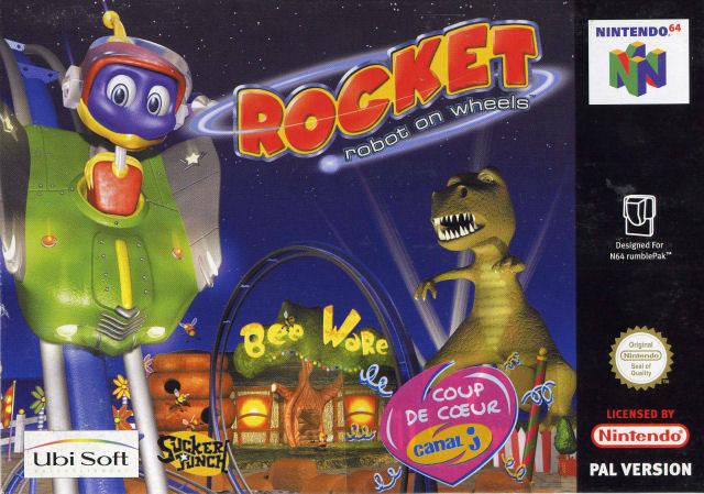 Rocket - Robot on Wheels portada de Nintendo 64