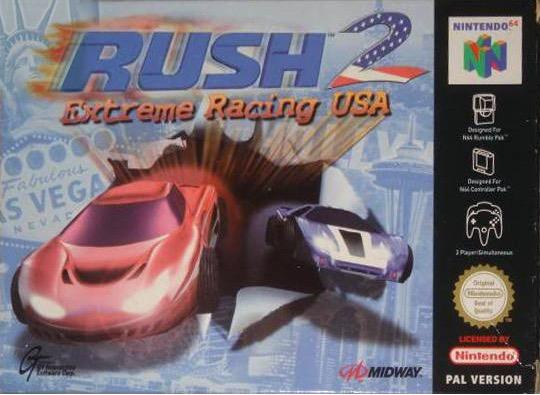 Rush 2 portada de Nintendo 64