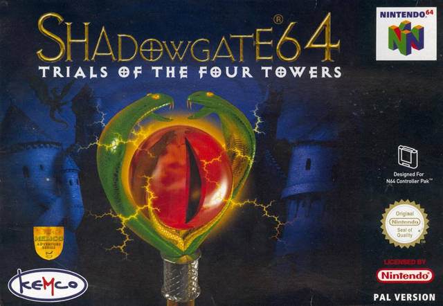 Shadowgate 64 - Trials of the Four Towers portada de Nintendo 64