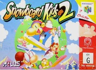 Snowboard Kids 2 portada de Nintendo 64