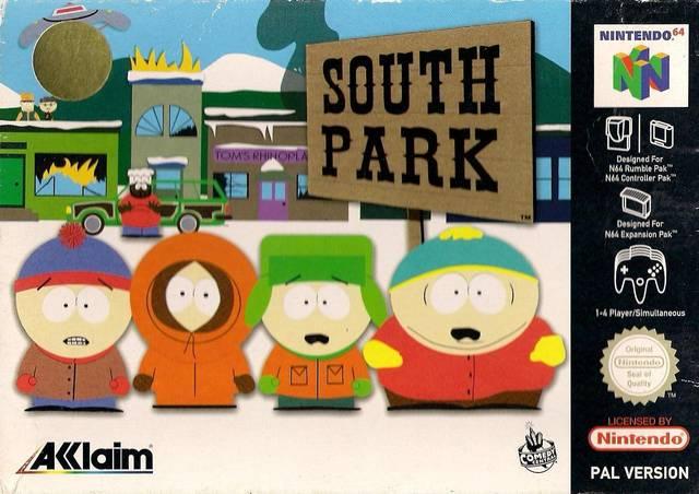 South Park portada de Nintendo 64