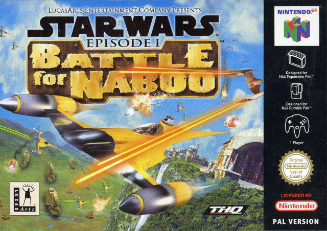 Star Wars Episode I - Battle for Naboo portada de Nintendo 64