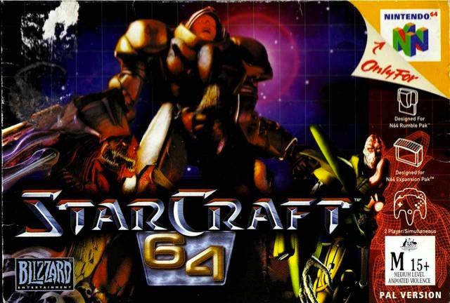 starcraft-64 portada de Nintendo 64