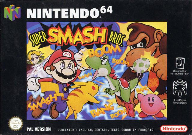 Super Smash Bros. portada de Nintendo 64