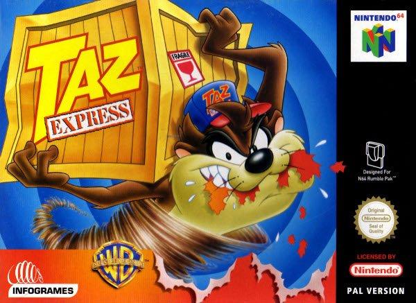 Taz Express portada de Nintendo 64
