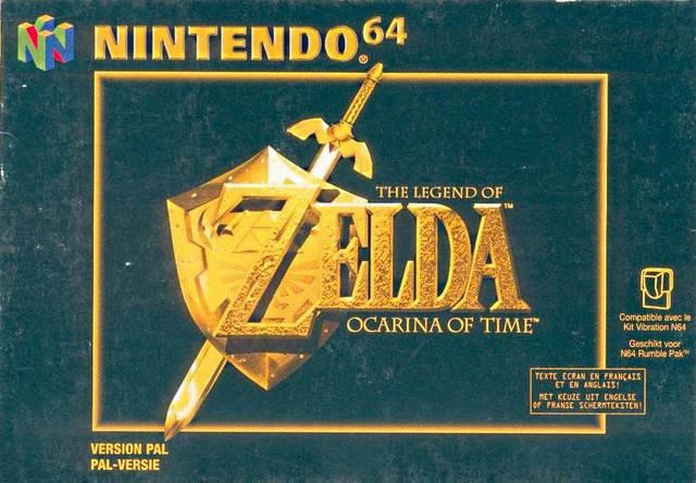Legend of Zelda Ocarina of Time portada de Nintendo 64