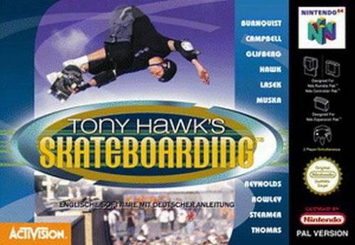 Tony Hawk's Skateboarding portada de Nintendo 64